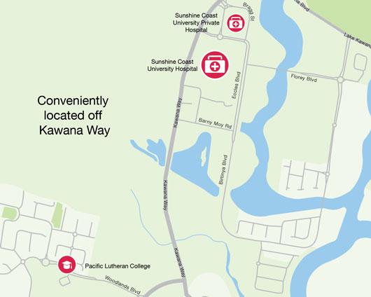 Kawana Hospital Precinct, University Hospital Precinct, Sunshine Coast Private School, Lutheran School
